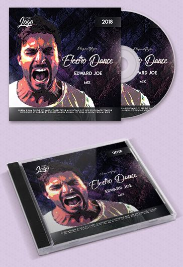 Electro Dance – Premium CD Cover PSD Template