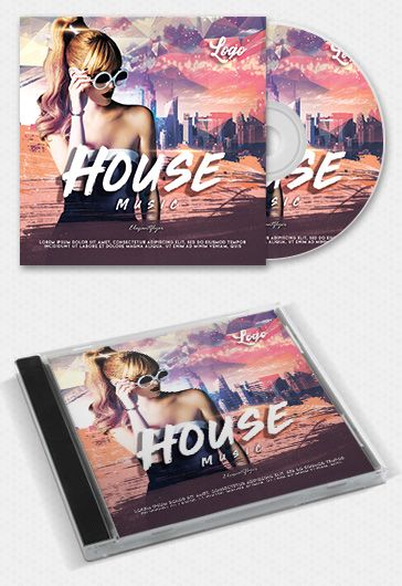 Music Emotions – Free CD Cover PSD Template