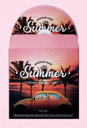 Summer Hits – Premium CD Cover PSD Template