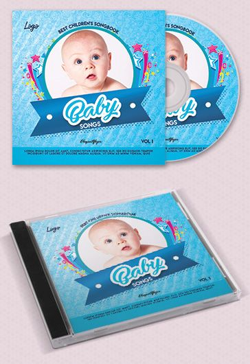 Baby Songs – Free CD Cover PSD Template