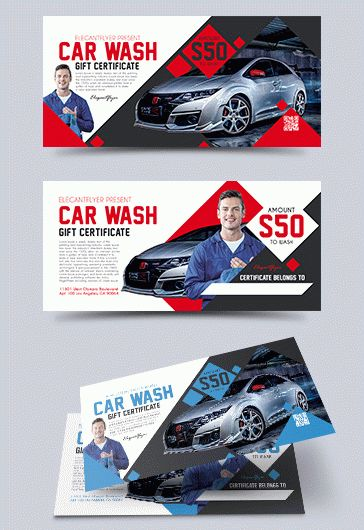 Car by elegantflyer for Auto detailing gift certificate template