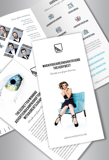 Free Brochure Templates In PSD By ElegantFlyer - Trifold brochure template psd