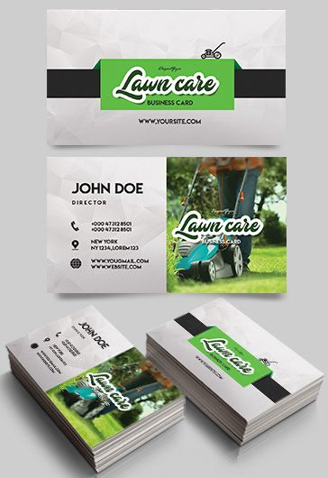 Lawn Care – Free Business Card Templates PSD