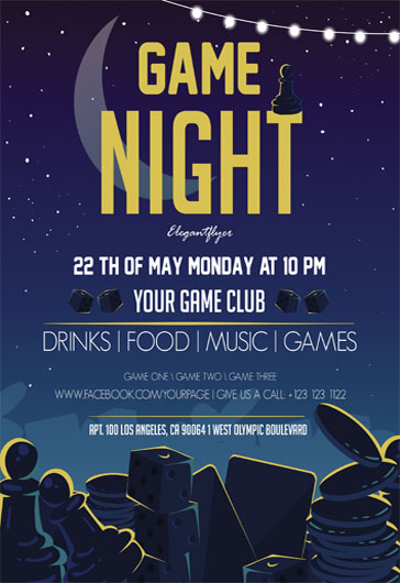 Game Night – Flyer PSD Template