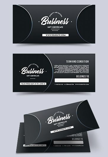 Business – Free Gift Certificate PSD Template