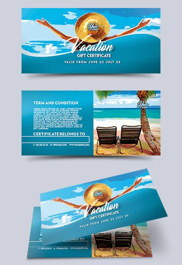 Vacation – Premium Gift Certificate PSD Template