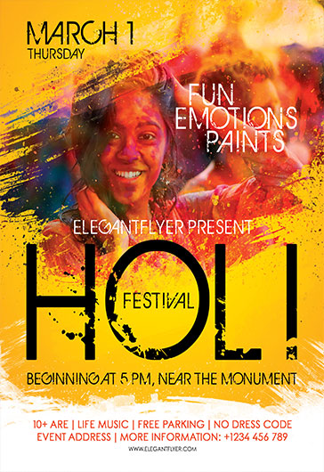 Holi – Flyer PSD Template