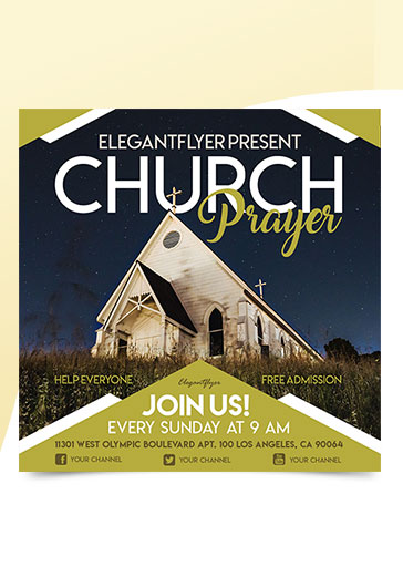 Invitation for at the Cross Church Template