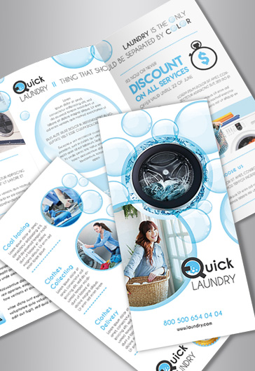 Tri-Fold PSD Brochure for Laundry Services