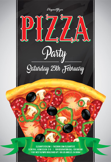 Pizza party – Flyer PSD Template