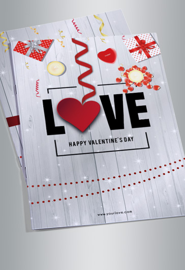 Valentines Party Day Bi-Fold Brochure