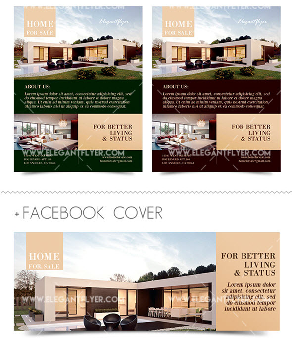 Best Free And Premium Real Estate Flyer Templates By ElegantFlyer - Free real estate brochure templates