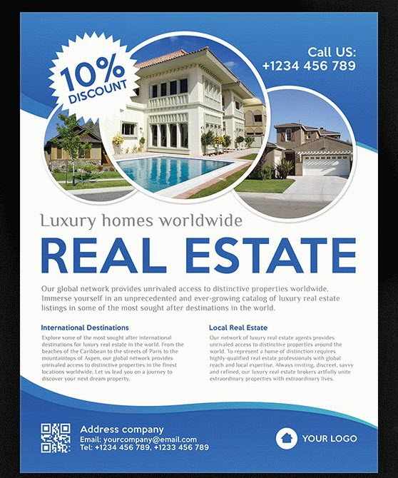 8 best free and premium real estate flyer templates for for Free mortgage flyer templates