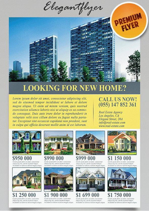 8 Best Free And Premium Real Estate Flyer Templates By Elegantflyer