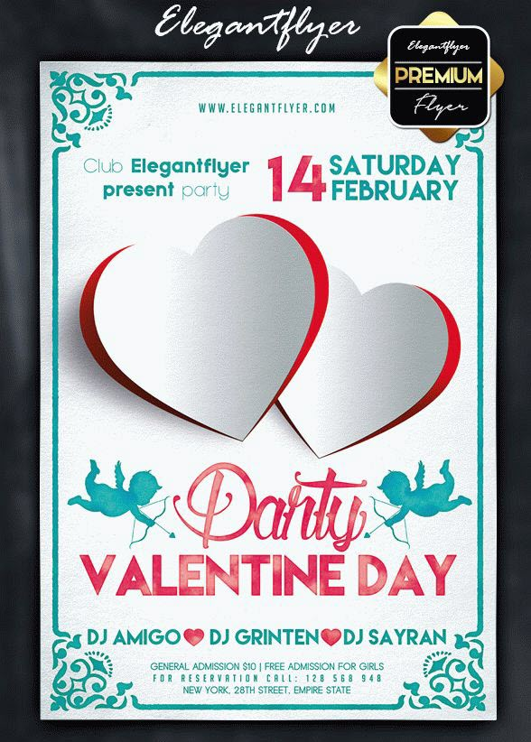 20 Best Free and Premium Valentine's Day PSD Flyer Templates from Elegantflyer