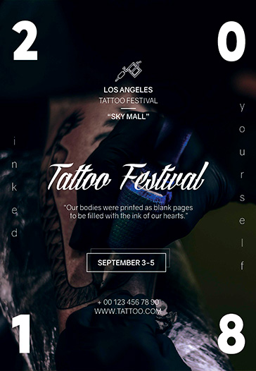 Tattoo Festival – Flyer PSD Template