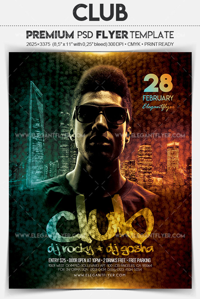 20 exclusive psd flyer templates for night clubs restaurants bars