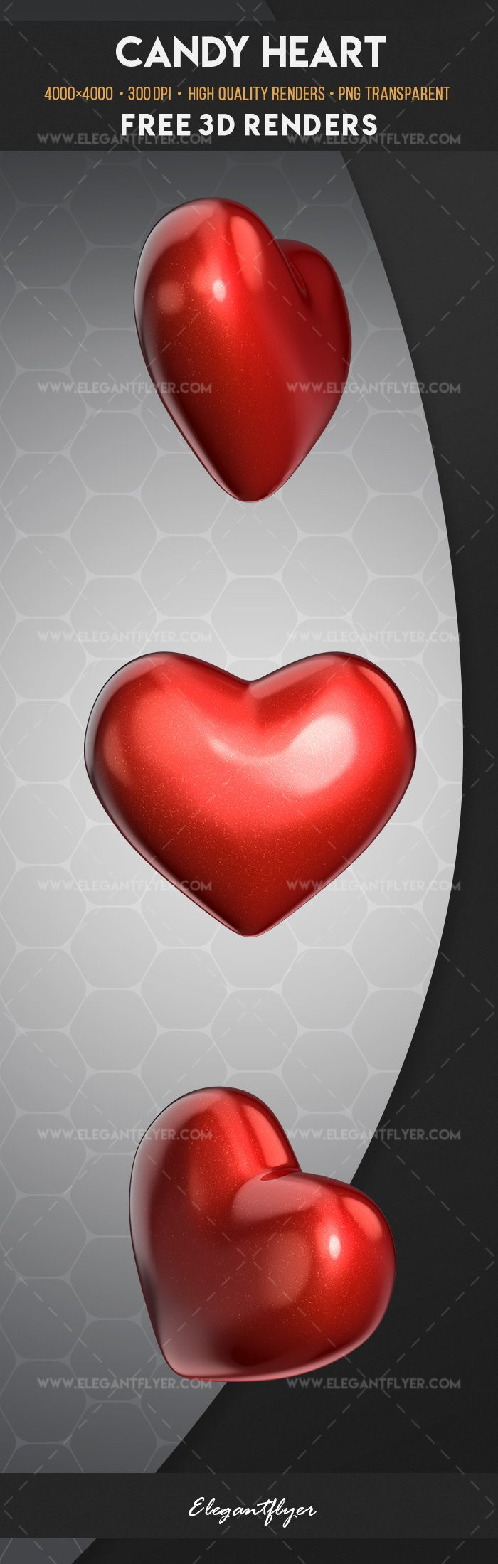Candy Heart – Free 3d Render Templates