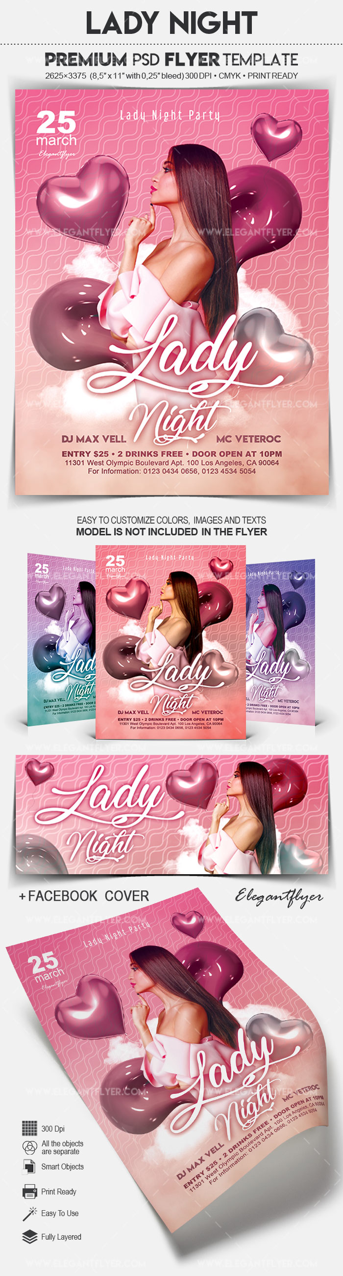Lady Night – Flyer PSD Template