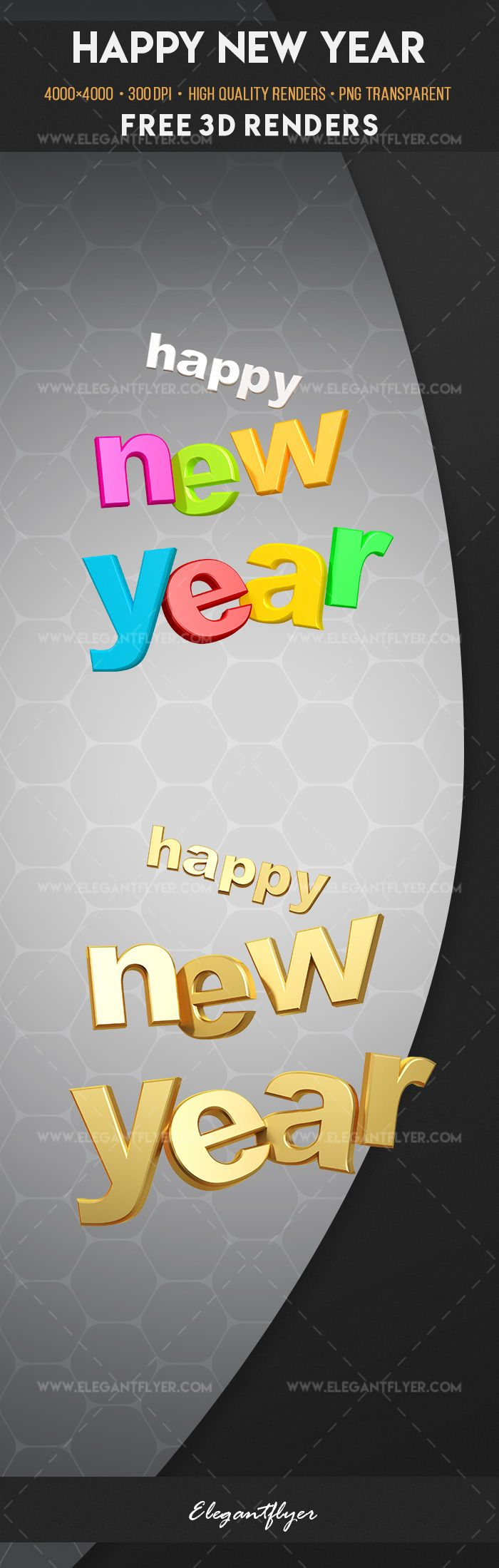 Happy New Year – Free 3d Render Templates
