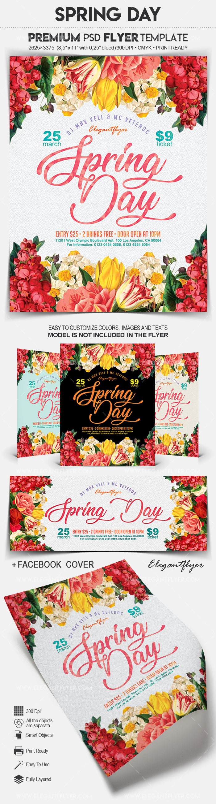 Spring Day – Flyer PSD Template