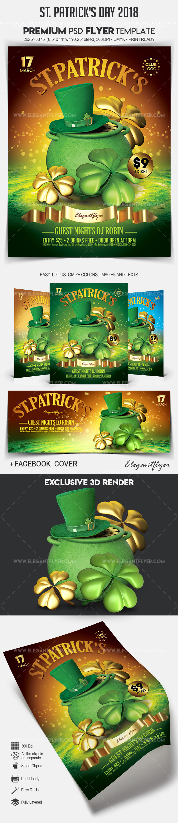 st  patrick u2019s day 2018  u2013 flyer psd template  u2013 by elegantflyer