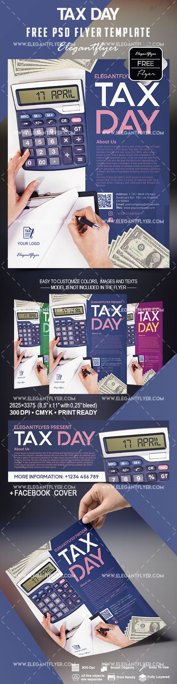 Free Tax Day Flyer Template