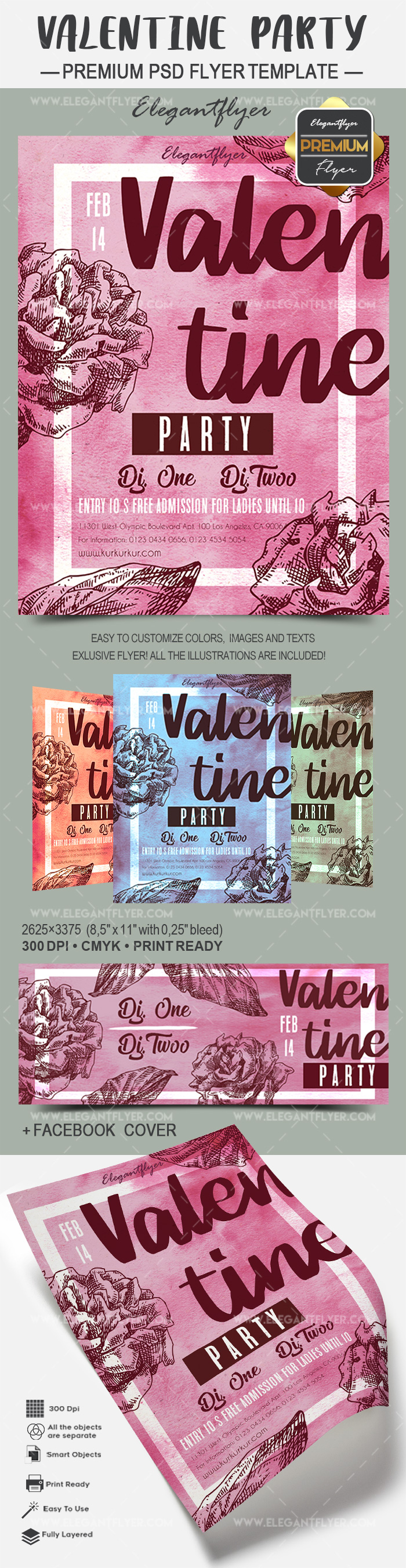 Valentine Party – Flyer PSD Template