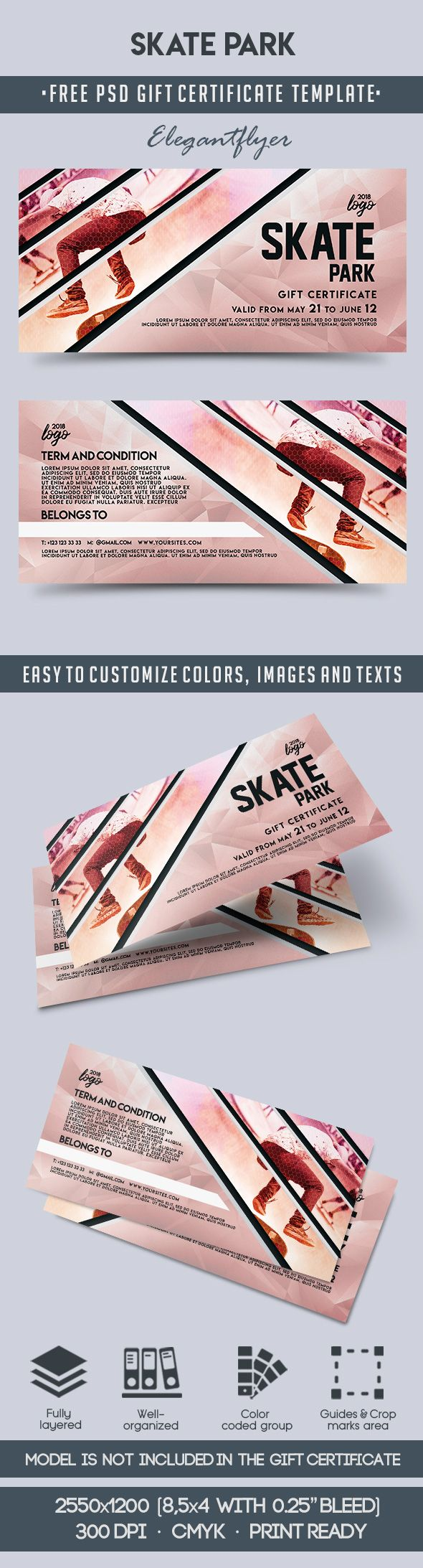 Skate Park – Free Gift Certificate PSD Template