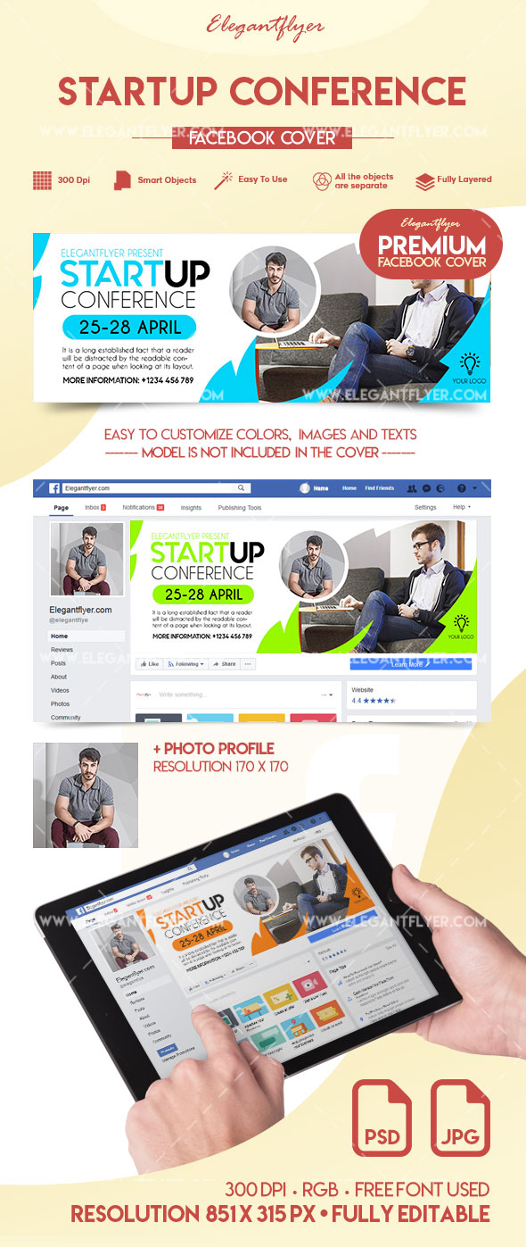 Startup Conference – Premium Facebook Cover
