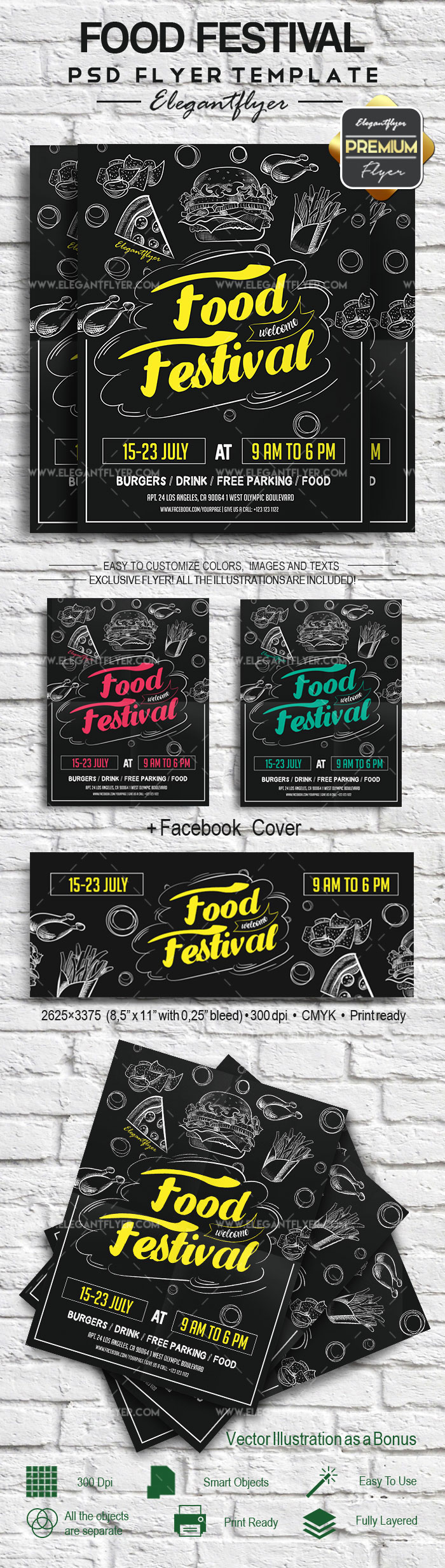Food Festival – Flyer PSD Template