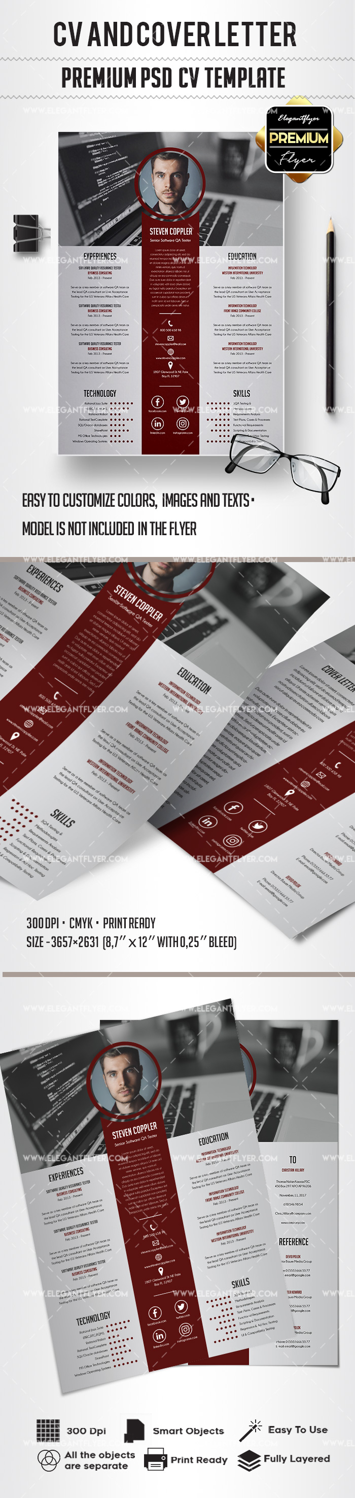 Template CV and Cover Letter PSD