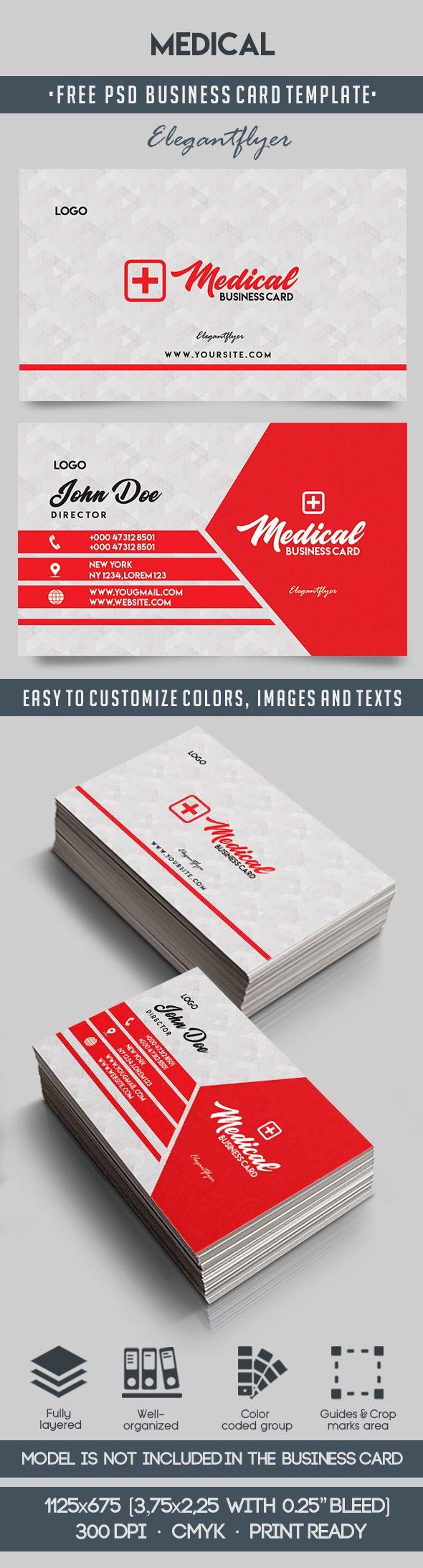 medical � free business card templates psd � by elegantflyer