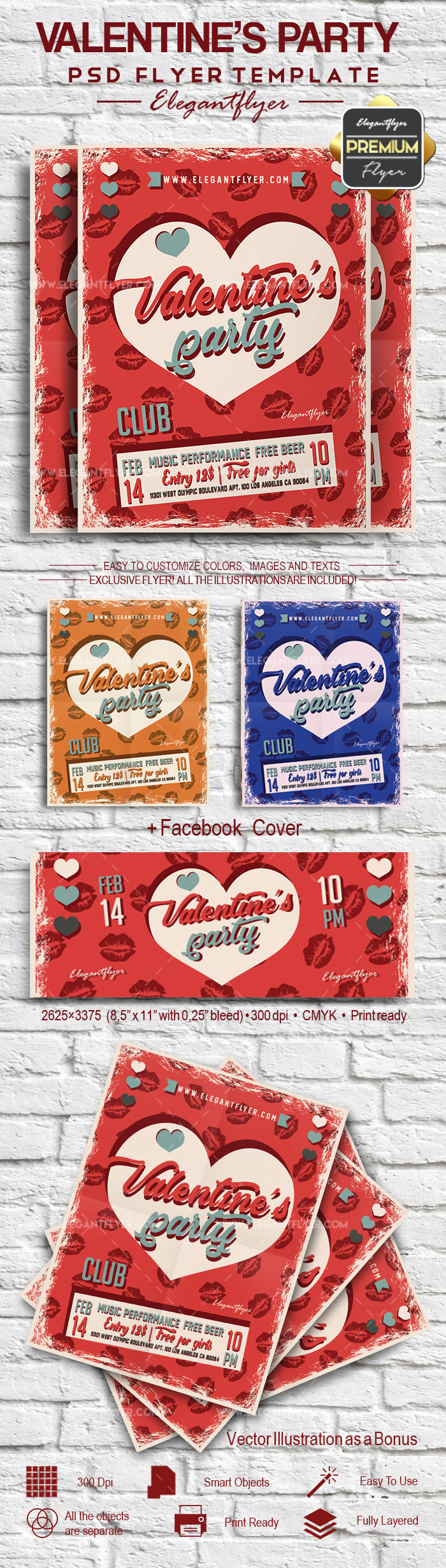 Valentine's Party – Flyer PSD Template