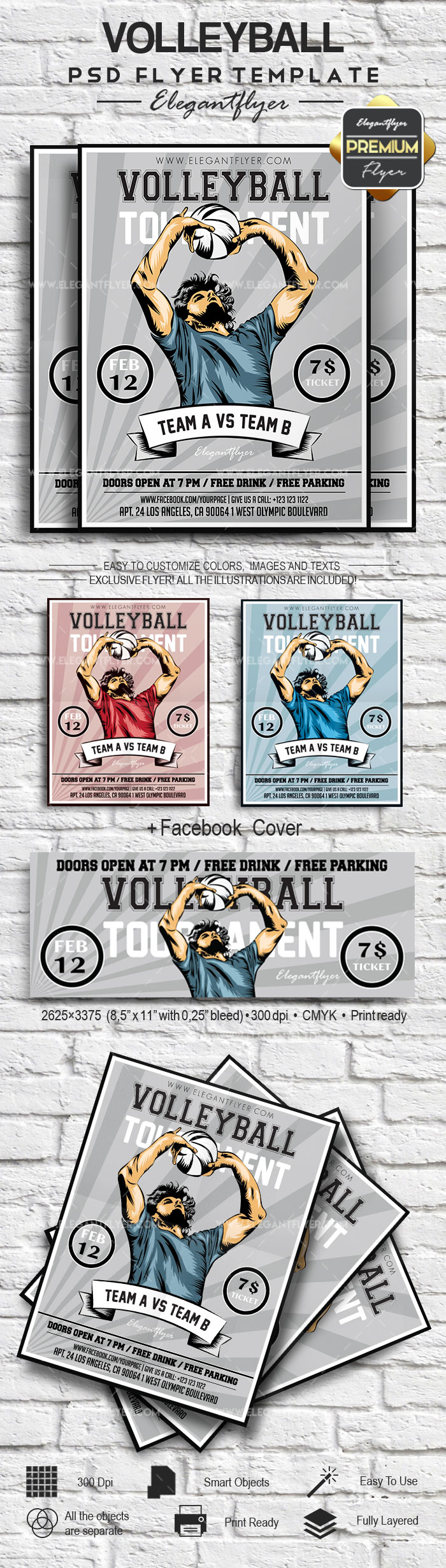 Volleyball – Flyer PSD Template