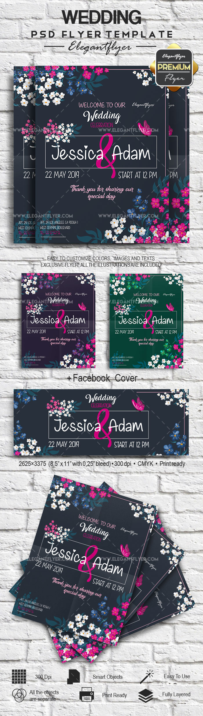 Flowers for Wedding Poster