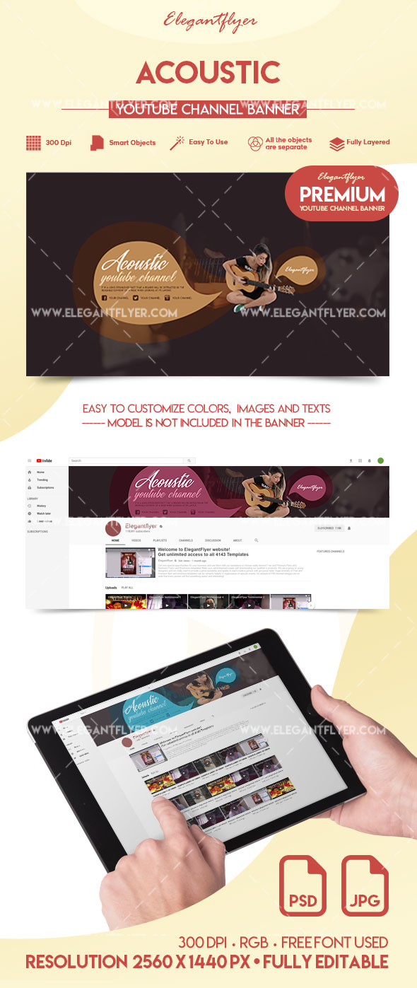 Acoustic – Premium YouTube Channel Banner