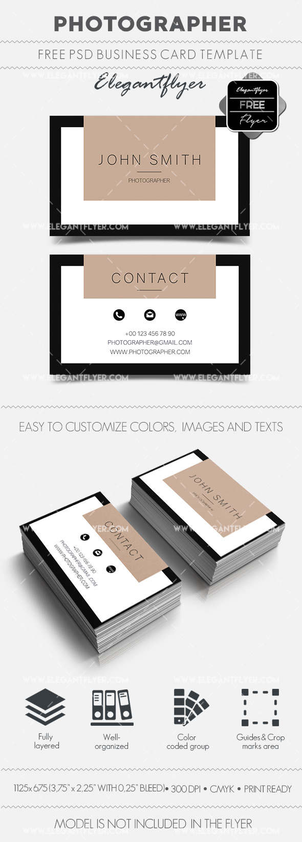 Photographer – Free Business Card Templates PSD