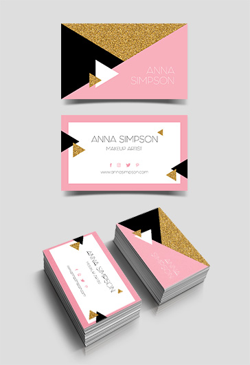 Makeup Artist – Premium Business Card Templates PSD