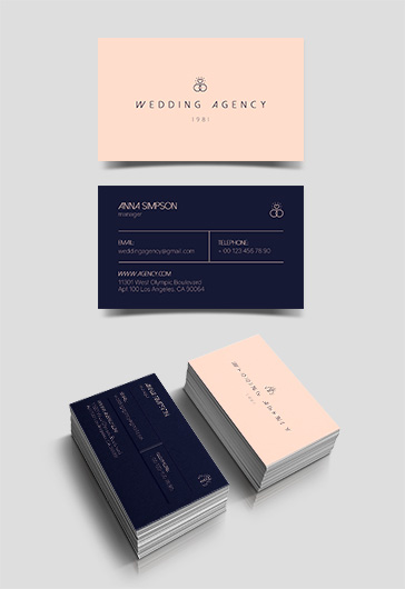Wedding Agency – Premium Business Card Templates PSD
