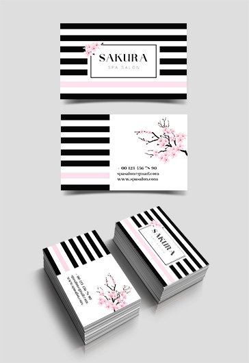 Sakura Spa Salon Visit Card