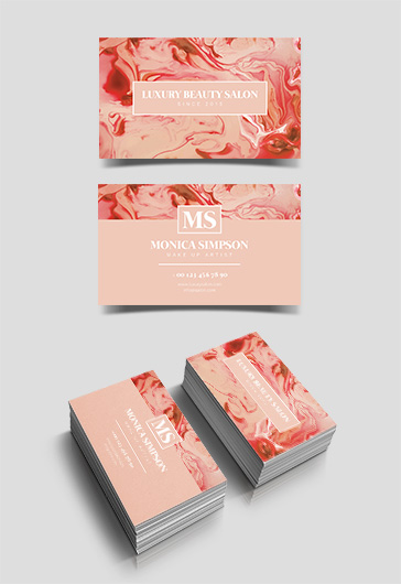 Beauty Salon – Premium Business Card Templates PSD