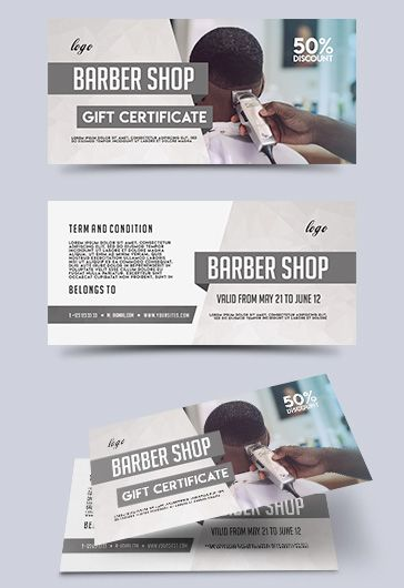 Gift Voucher for Barber Shop Studio
