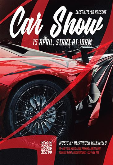 Car Show V2 Flyer Psd Template By Elegantflyer
