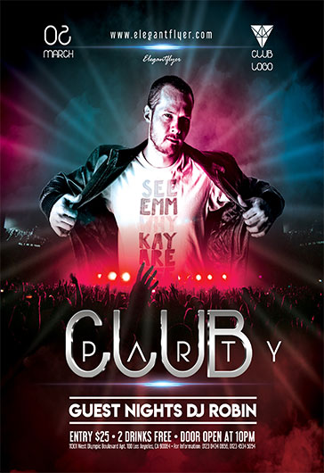 club party v05 flyer psd template by elegantflyer