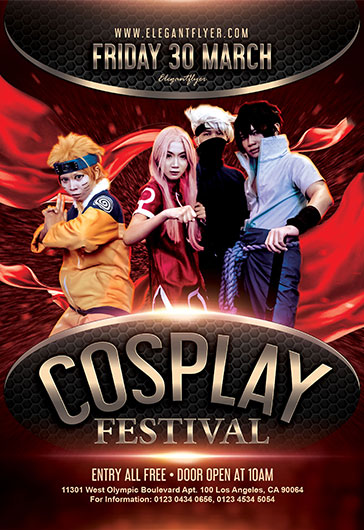 Cosplay Festival – Flyer PSD Template