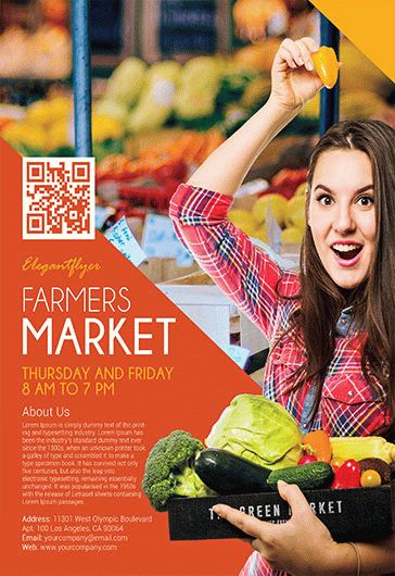 Farmers Market – Flyer PSD Template