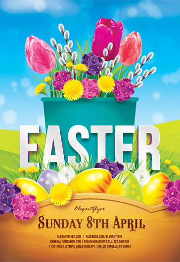 Free Easter Flyers Templates In Photoshop  By Elegantflyer
