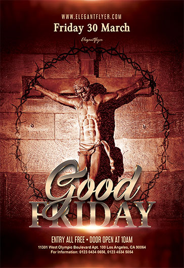 Flyer Template For Good Friday