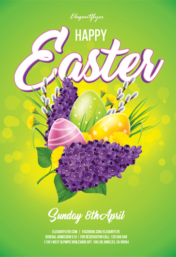 Flyer Template for Happy Easter